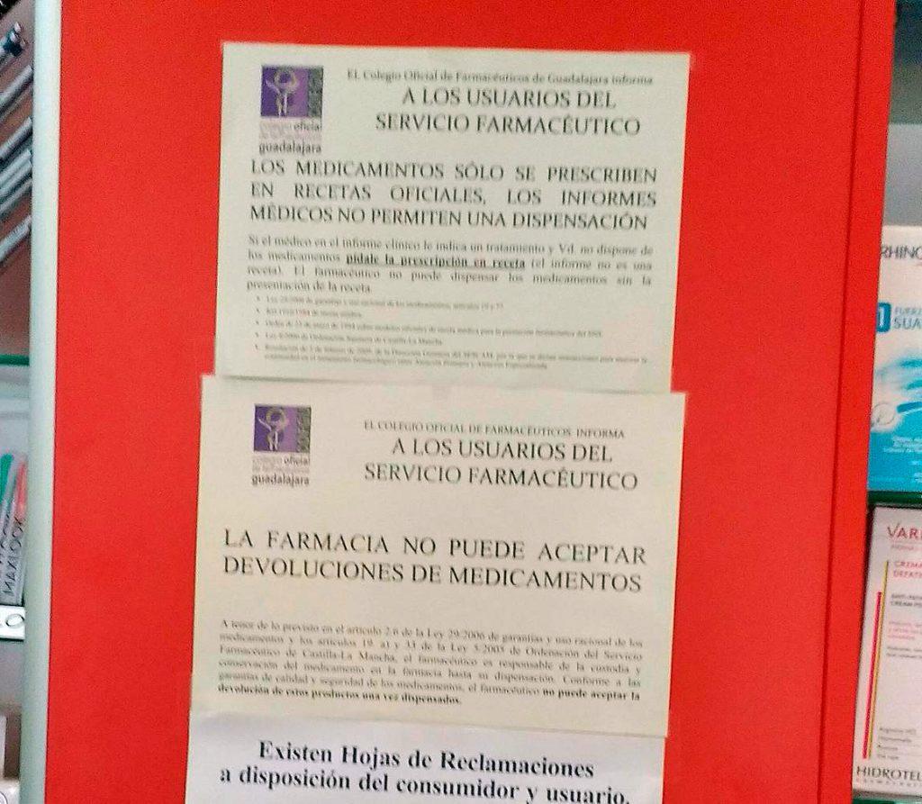 Carteles del Colegio Oficial de Farmacéuticos de Guadalajara